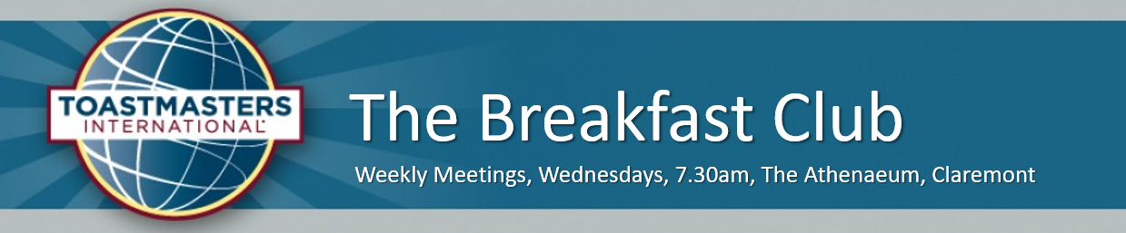 Toastmasters — Newlands, Cape Town: The Breakfast Club